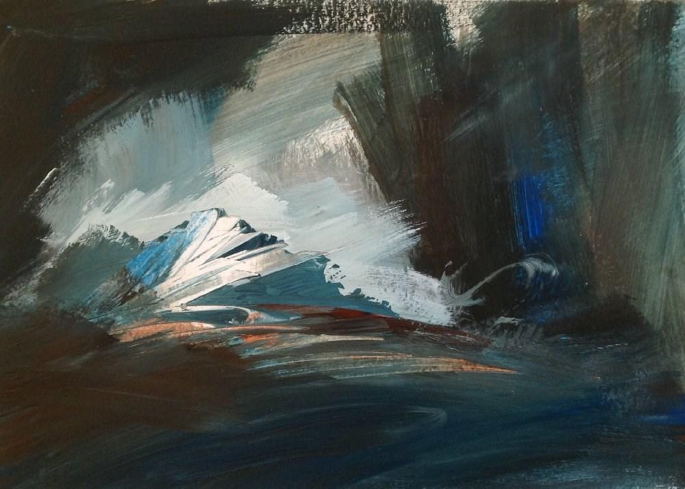 """By Wandering"" original fine art by David Kuhn"