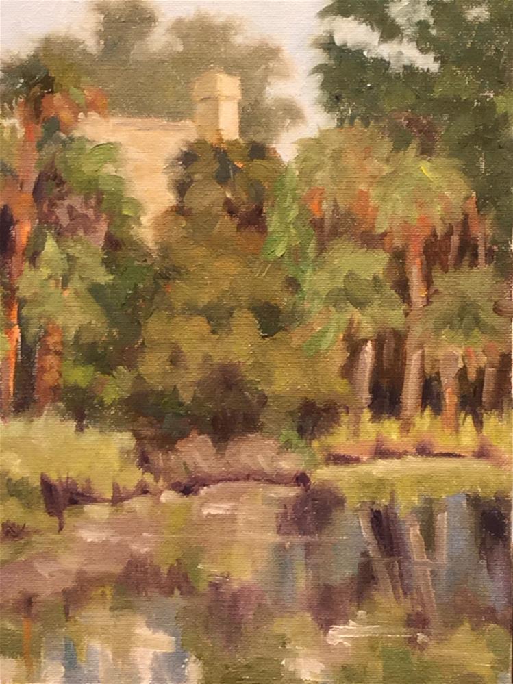 """""""Salt Cedar Pond"""" original fine art by Judy Elias"""