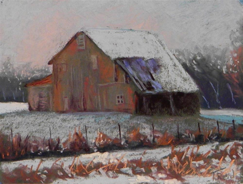 """""""Red Barn"""" original fine art by Toby Reid"""