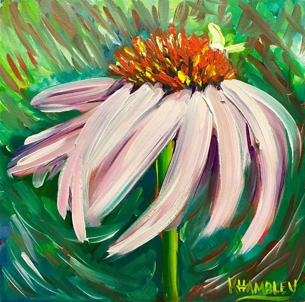 """Coneflower"" original fine art by Katherine Hambley"