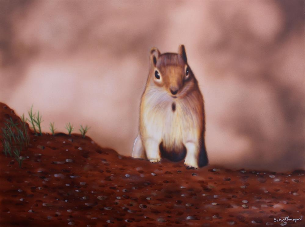 """Furry Explorer"" original fine art by Fred Schollmeyer"