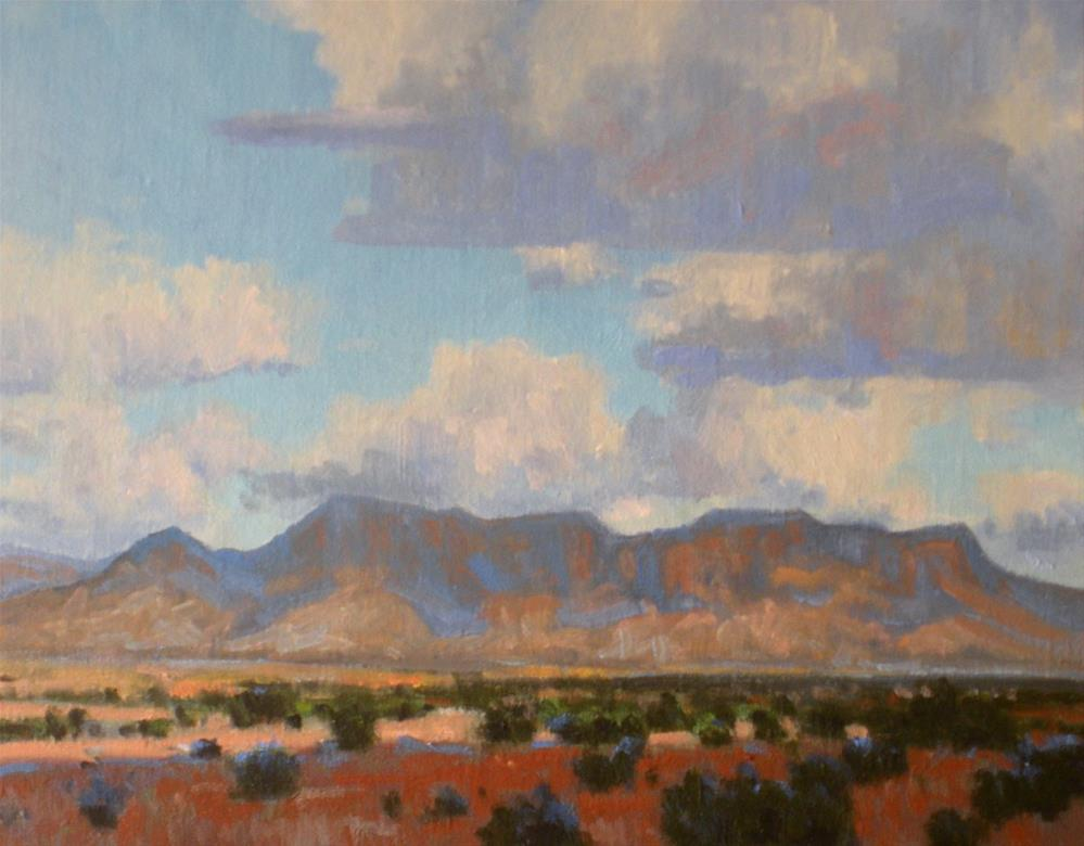 """Afternoon Clouds in the Bend"" original fine art by David Forks"