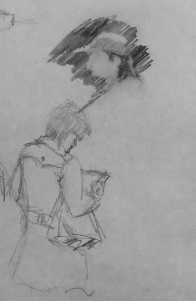 """From Michaels sketch book #2"" original fine art by Michael Sason"