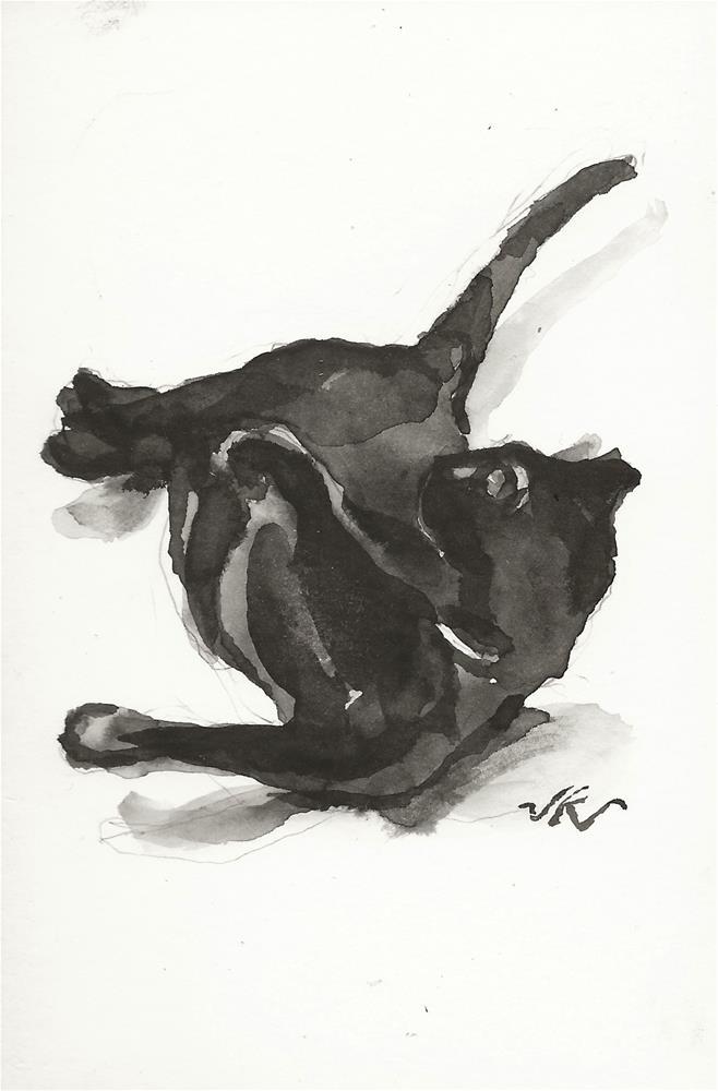 """Daily Cat 187"" original fine art by Jean Krueger"