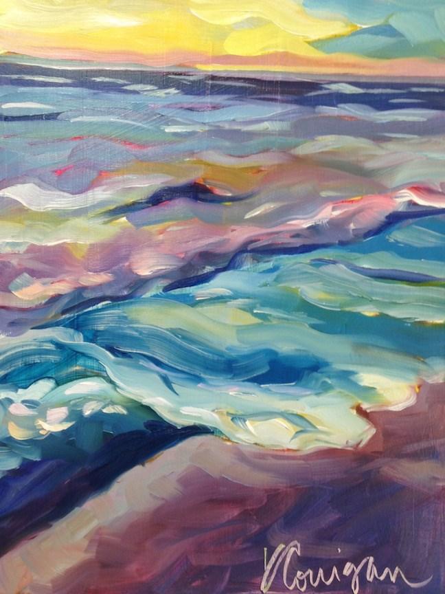 """Shore Line, Indian Rocks Beach, FL"" original fine art by Kat Corrigan"