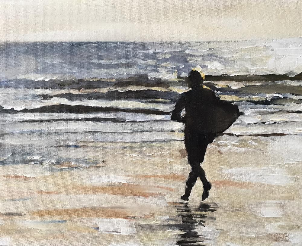 """Surfer"" original fine art by James Coates"