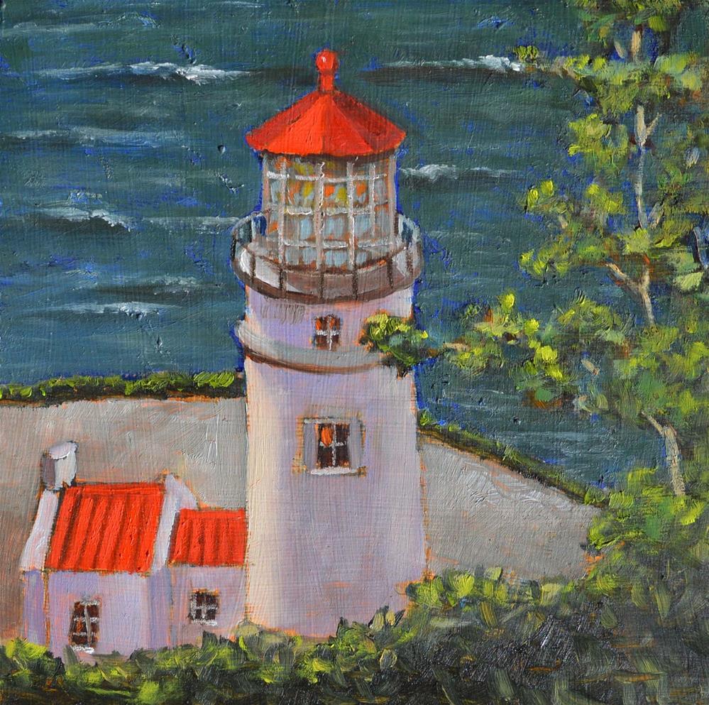 """Oregon Lighthouse"" original fine art by Robert Frankis"