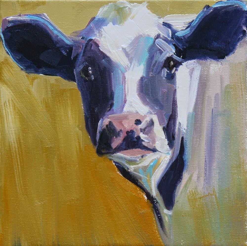 """dairy baby and workshop announcement"" original fine art by Carol Carmichael"
