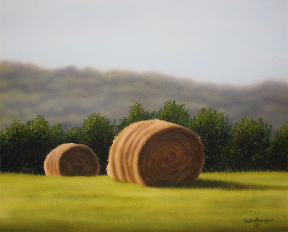 """""""Orchard Grass Hay"""" original fine art by Fred Schollmeyer"""