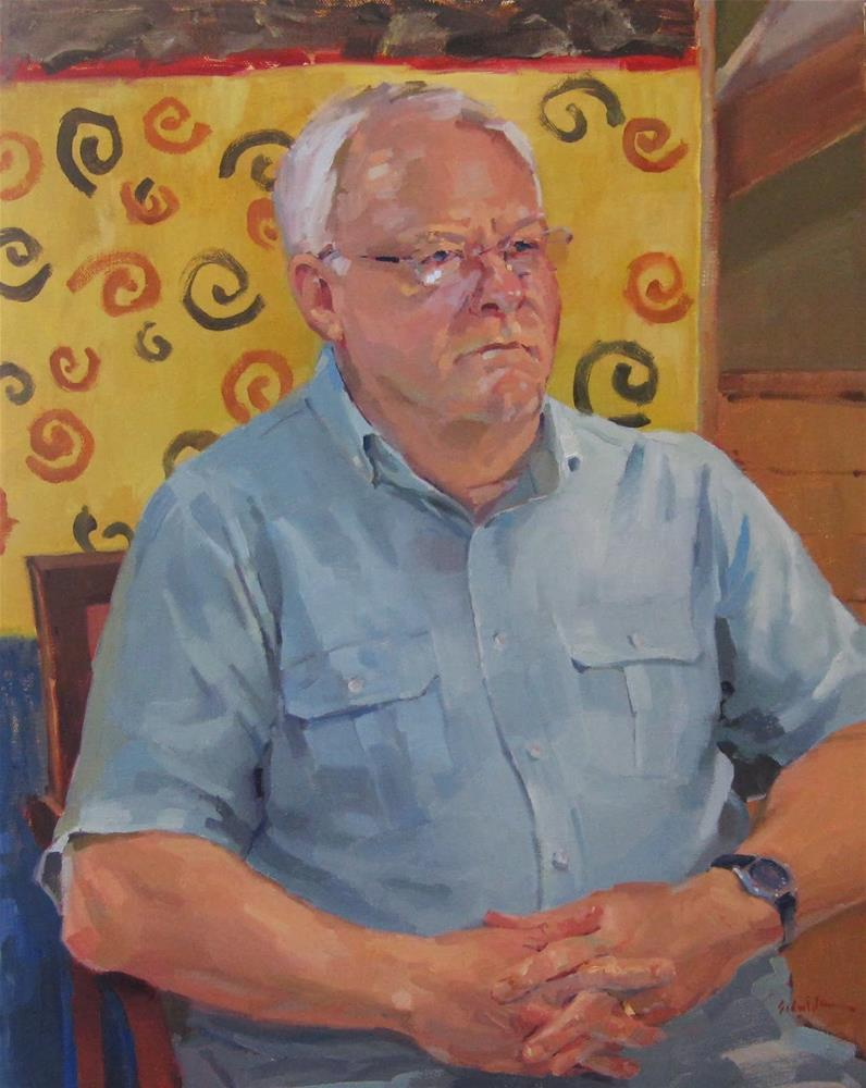 """Portrait of R. Canaga"" original fine art by Sarah Sedwick"