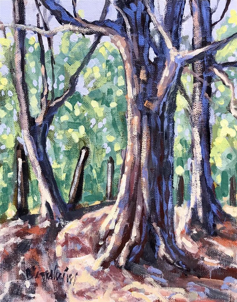 """Sale Painting Trail Three"" original fine art by Linda Blondheim"