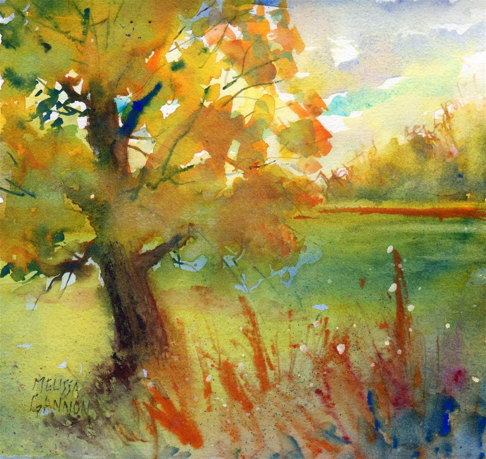 """Trees at Sunset"" original fine art by Melissa Gannon"