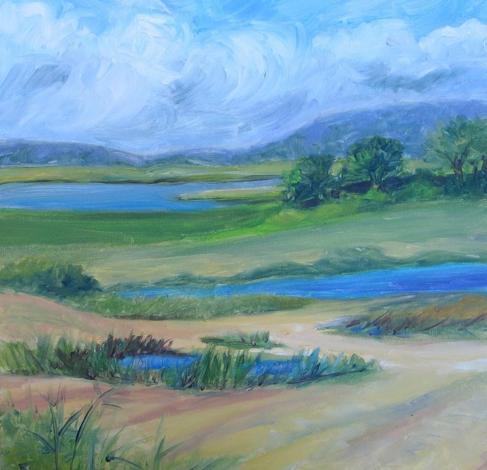 """PLum Island #2 - Just Mowed"" original fine art by Lynne Schulte"