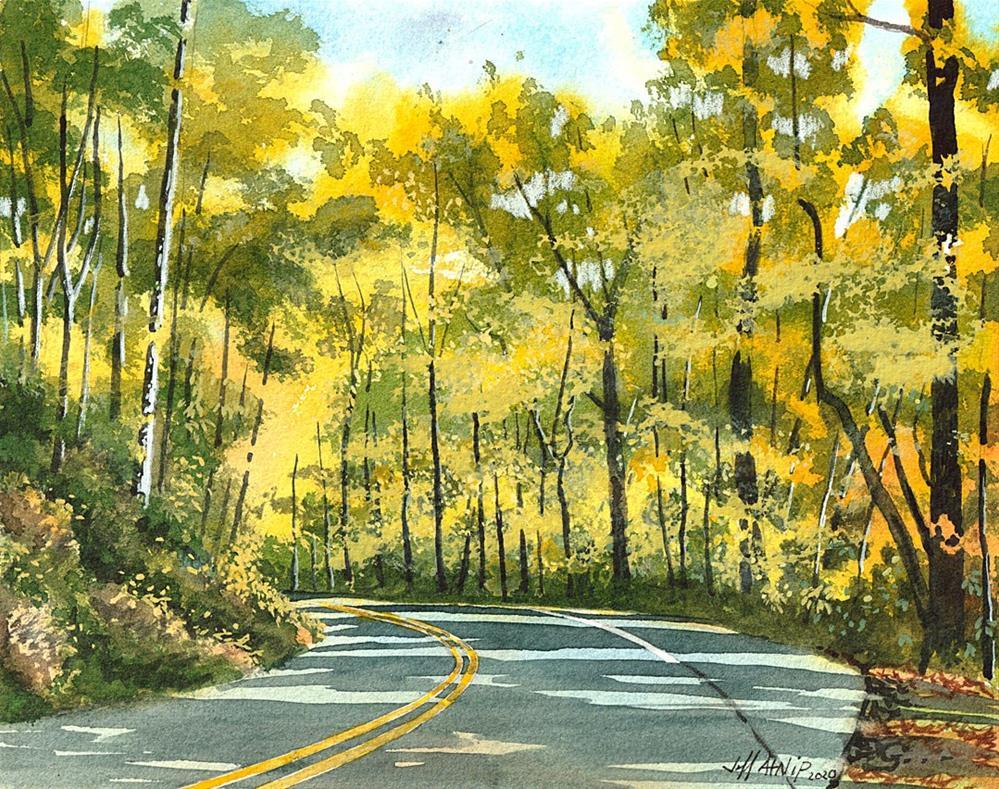 """Winding Road"" original fine art by Jeff Atnip"