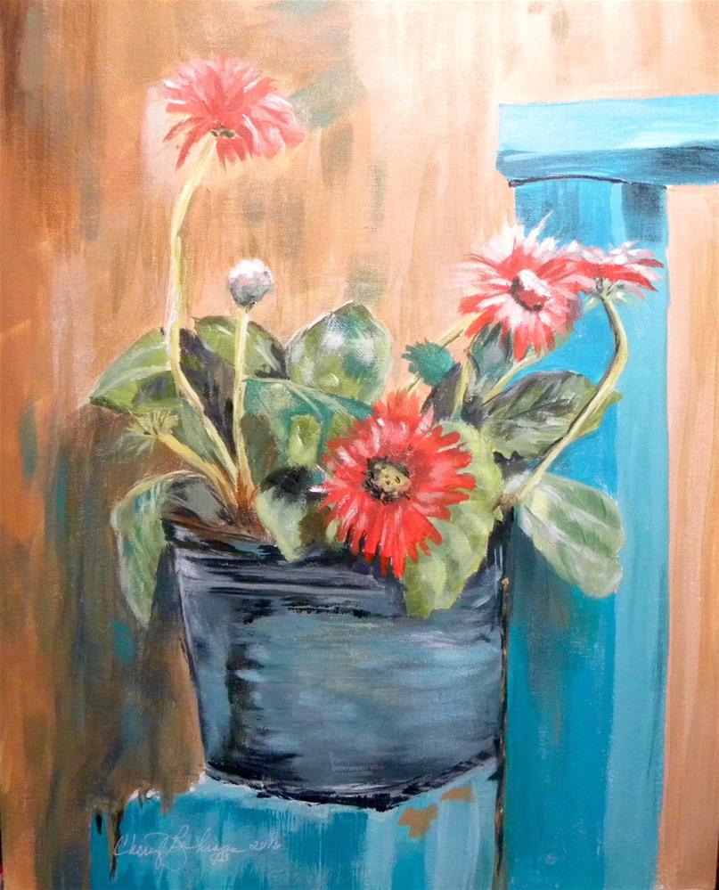 """Southwest Floral"" original fine art by cheryl buhrman"