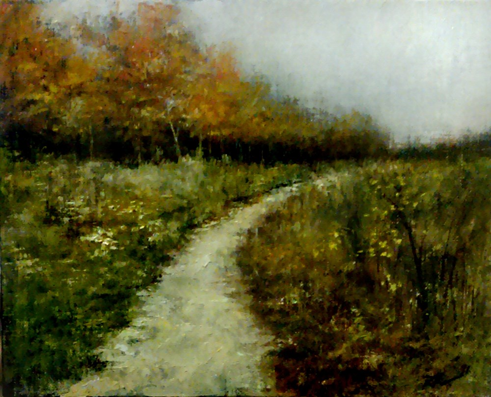 """""""The Trail Along the Woods"""" original fine art by Bob Kimball"""