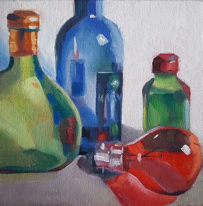 """Coloured Glass Challenge"" original fine art by J M Needham"