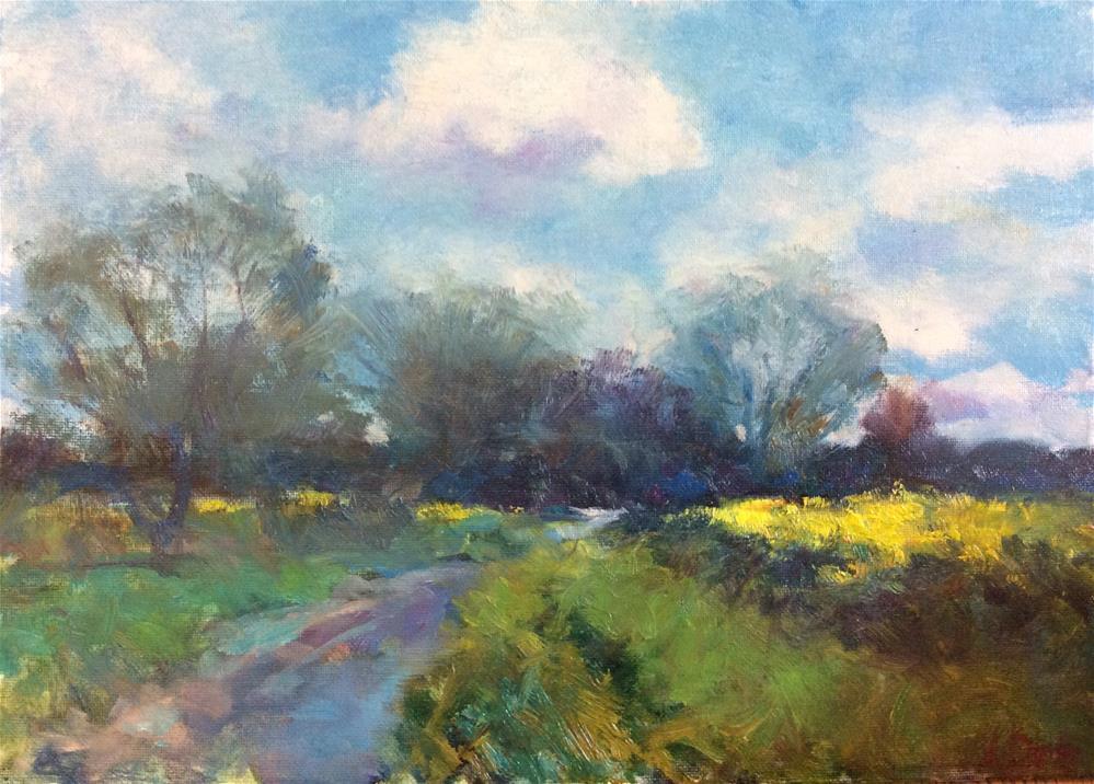 """""""Norfolk Landscape"""" original fine art by John Shave"""