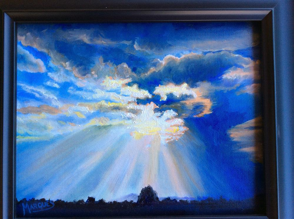 """""""Stormy skys"""" original fine art by Kathy Marques"""