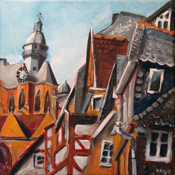 """""""0499 Upper Town - Oberstadt"""" original fine art by Dietmar Stiller"""