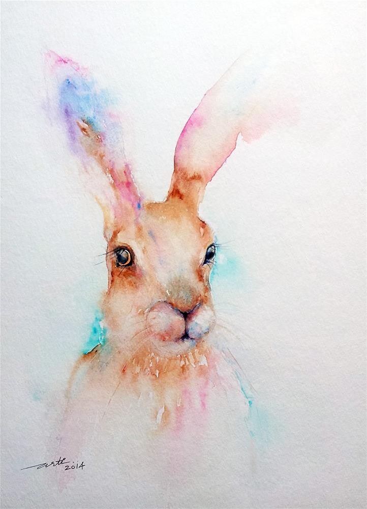 """""""The Brown Hare"""" original fine art by Arti Chauhan"""