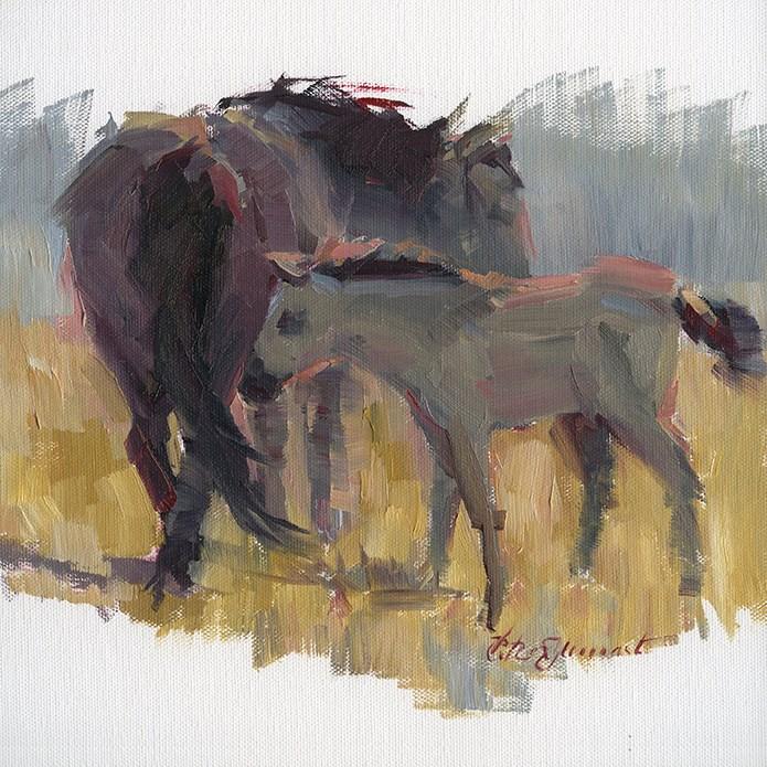 """""""Reservation Ponies"""" original fine art by B. Rex Stewart"""