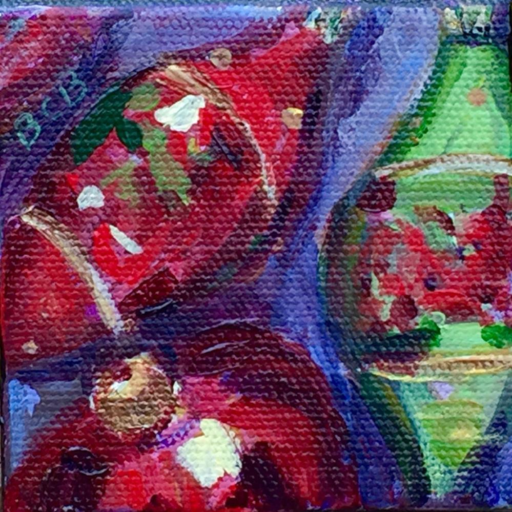 """Holiday Ornament 4"" original fine art by Beth Carrington Brown"