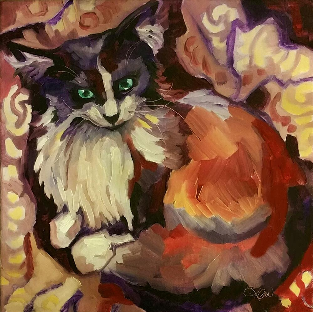 """Miss Butters"" original fine art by Leni Tarleton"