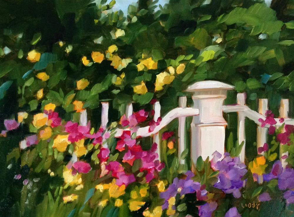 """""""Garden Delights"""" original fine art by Libby Anderson"""