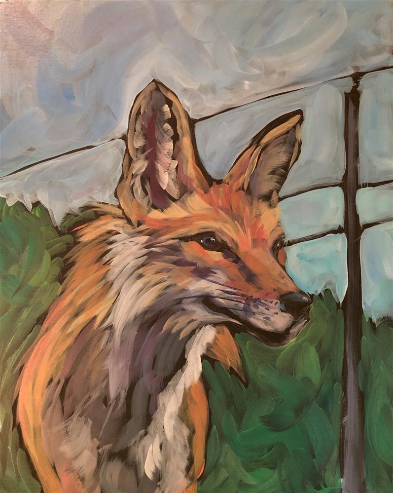 """Timothy Shortbread and the Power Pole"" original fine art by Kat Corrigan"