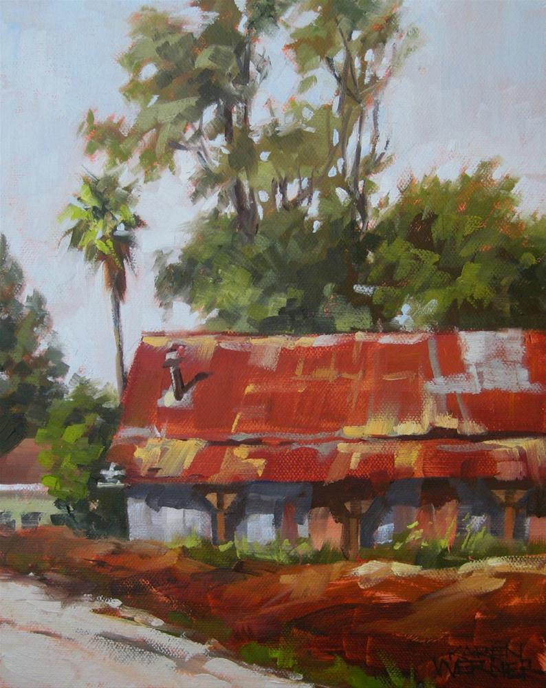 """Rusty Roof"" original fine art by Karen Werner"