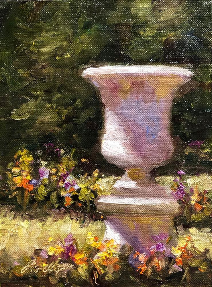 """""""Garden Urn"""" original fine art by Pat Fiorello"""