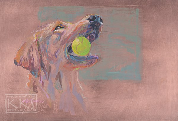 """Caught, Finished"" original fine art by Kimberly Santini"