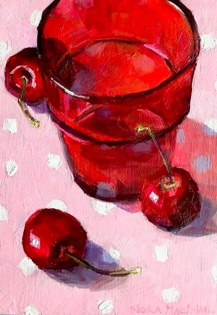 """polka dot reflections"" original fine art by Nora MacPhail"