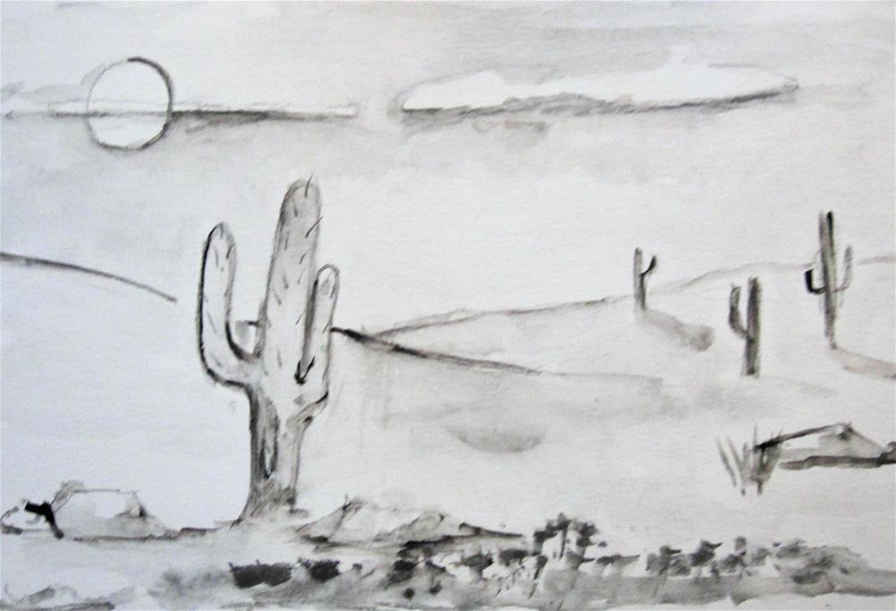 """Drawing 4, Desert"" original fine art by Delilah Smith"