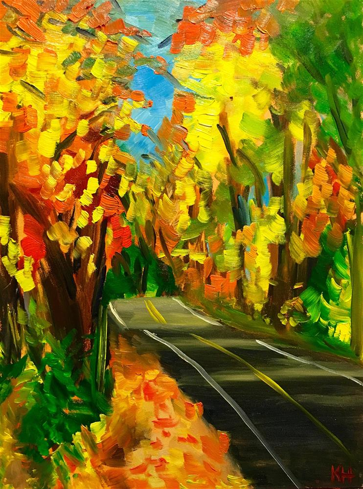 """Autumn Road"" original fine art by Katherine Hambley"