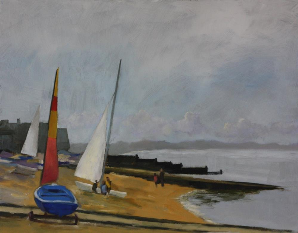 """""""West across Whitstable Bay"""" original fine art by Graham Townsend"""
