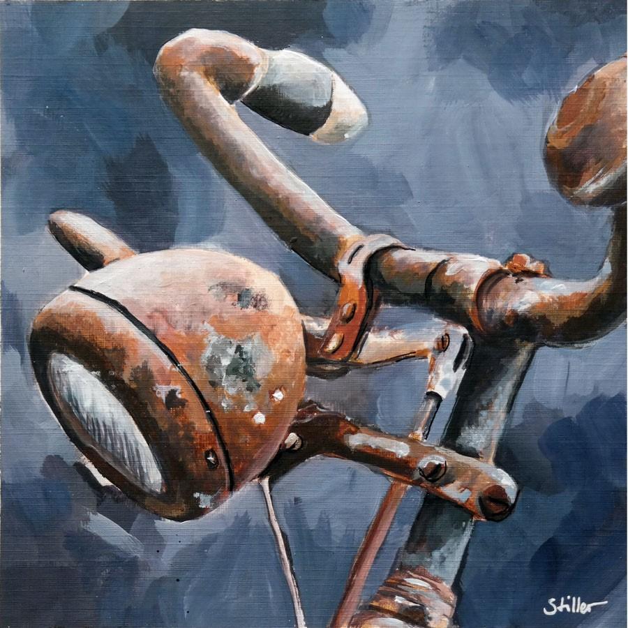 """""""2772 Old Bikey"""" original fine art by Dietmar Stiller"""