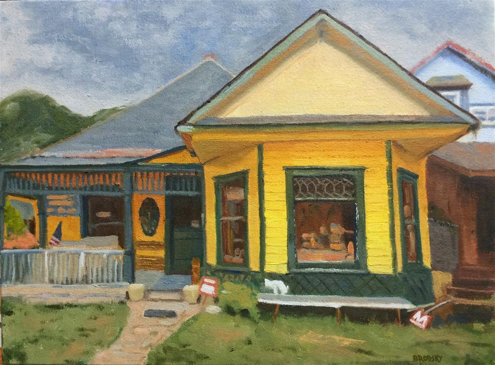 """Aspen House"" original fine art by Nina Brodsky"