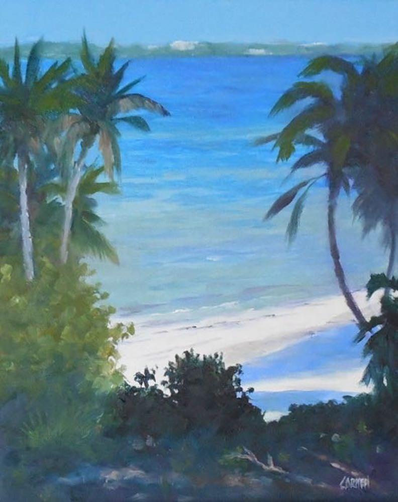 """Oil Painting, Indian River Lagoon, 8x10 Daily Painting"" original fine art by Carmen Beecher"