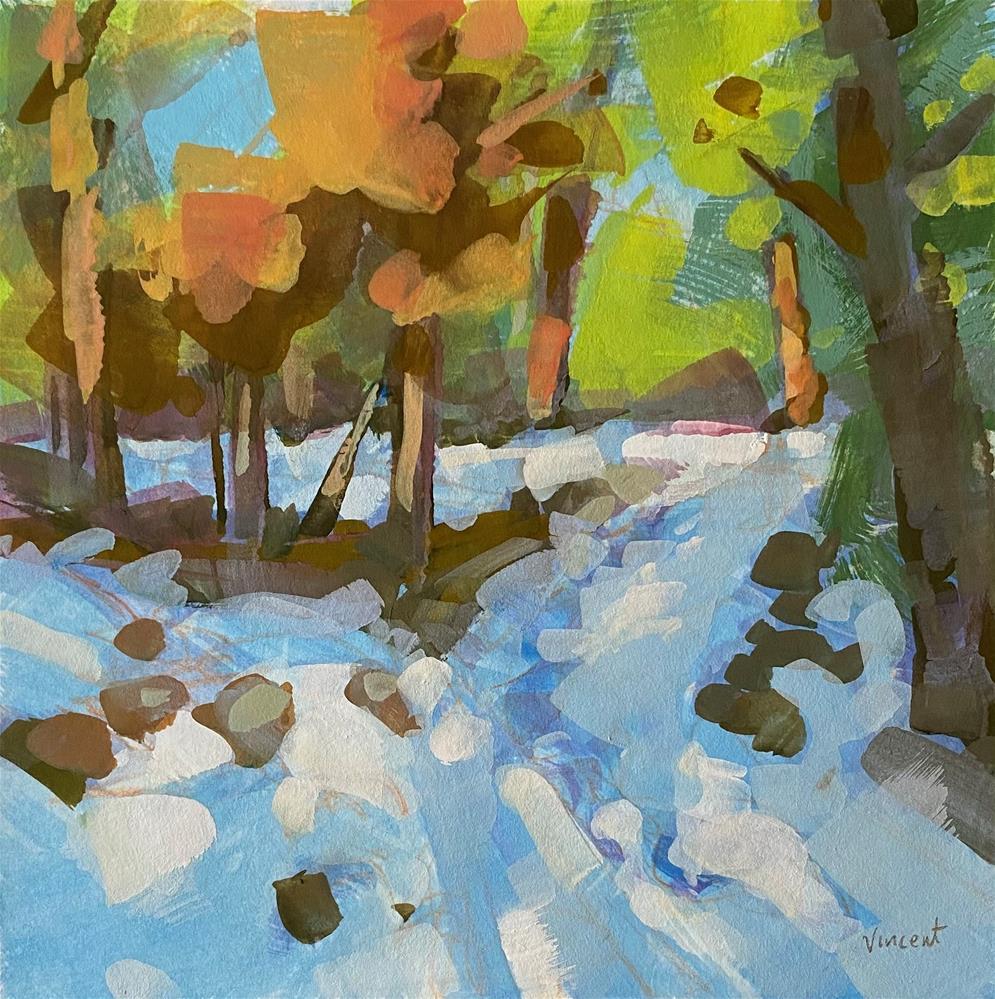 """Winter Hike"" original fine art by Patti Vincent"