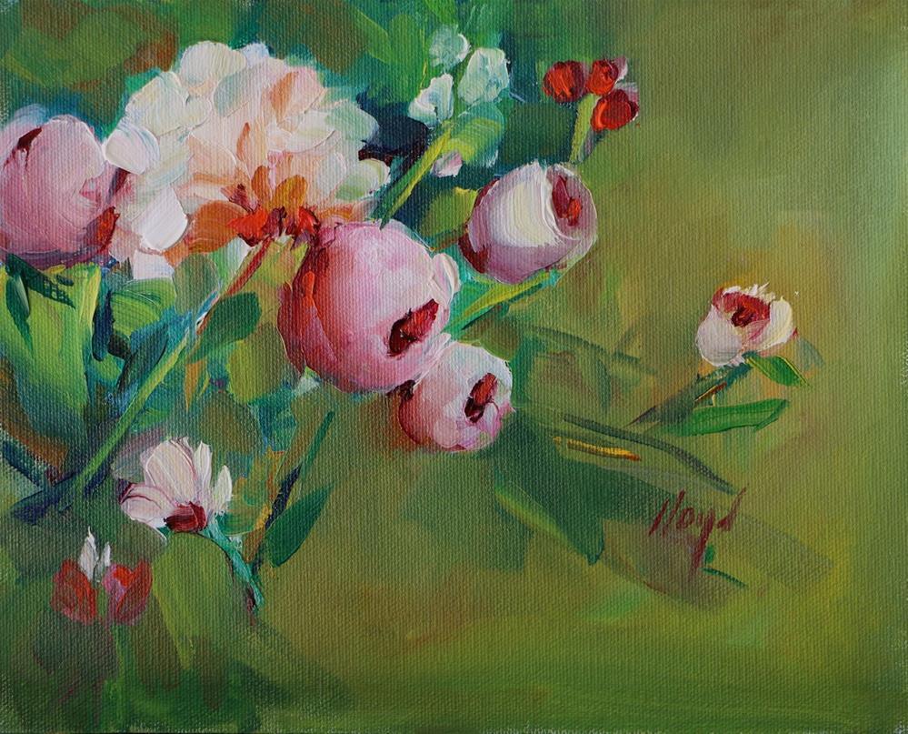 """Peony and Friends"" original fine art by Diane Lloyd"