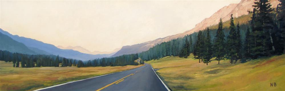 """Last Light of Yellowstone"" original fine art by Nora Bergman"