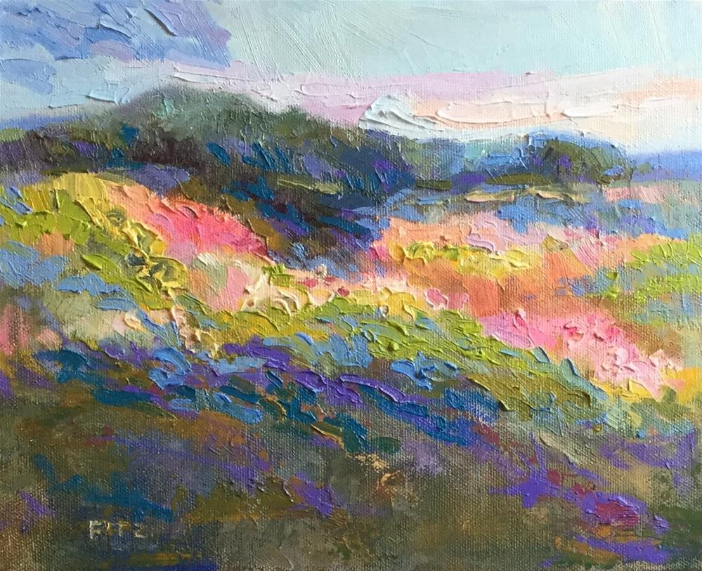 """View up the Hill"" original fine art by Charlotte Fitzgerald"