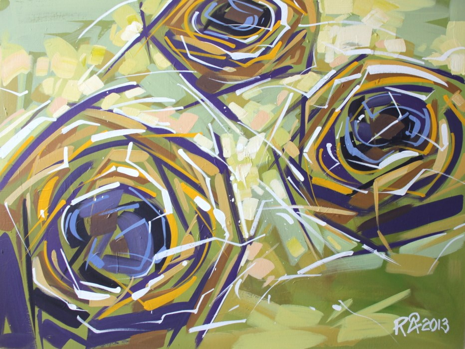 """Bird's Nest Abstraction 22"" original fine art by Roger Akesson"