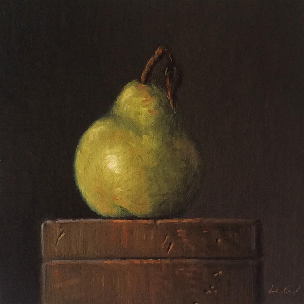 """Pear at Dusk"" original fine art by Darla McDowell"