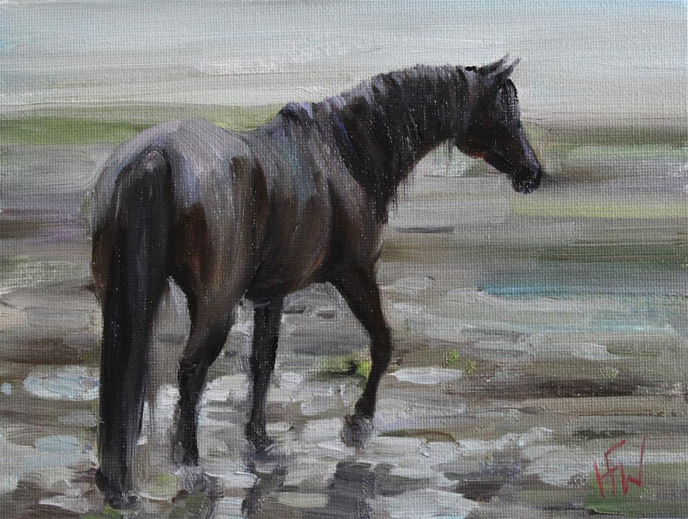 """Rainy Sunday Pony"" original fine art by H.F. Wallen"