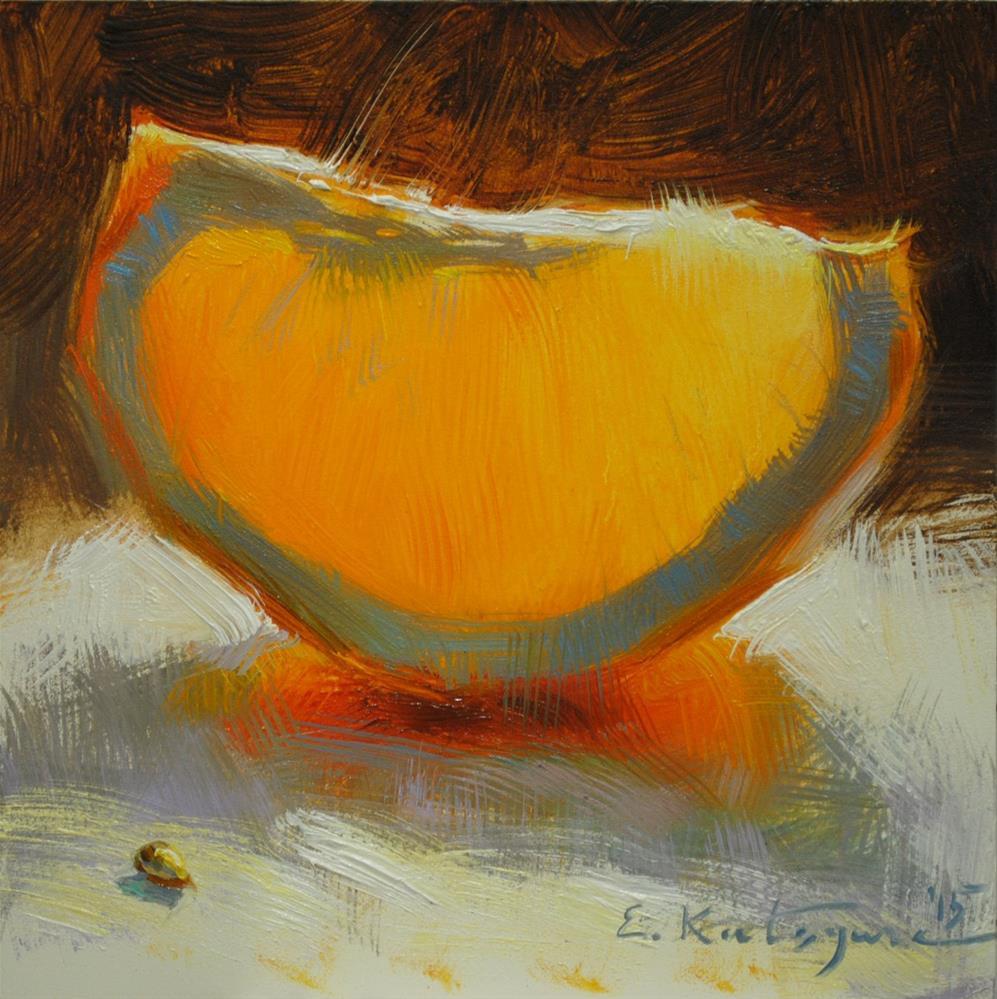 """February Orange"" original fine art by Elena Katsyura"