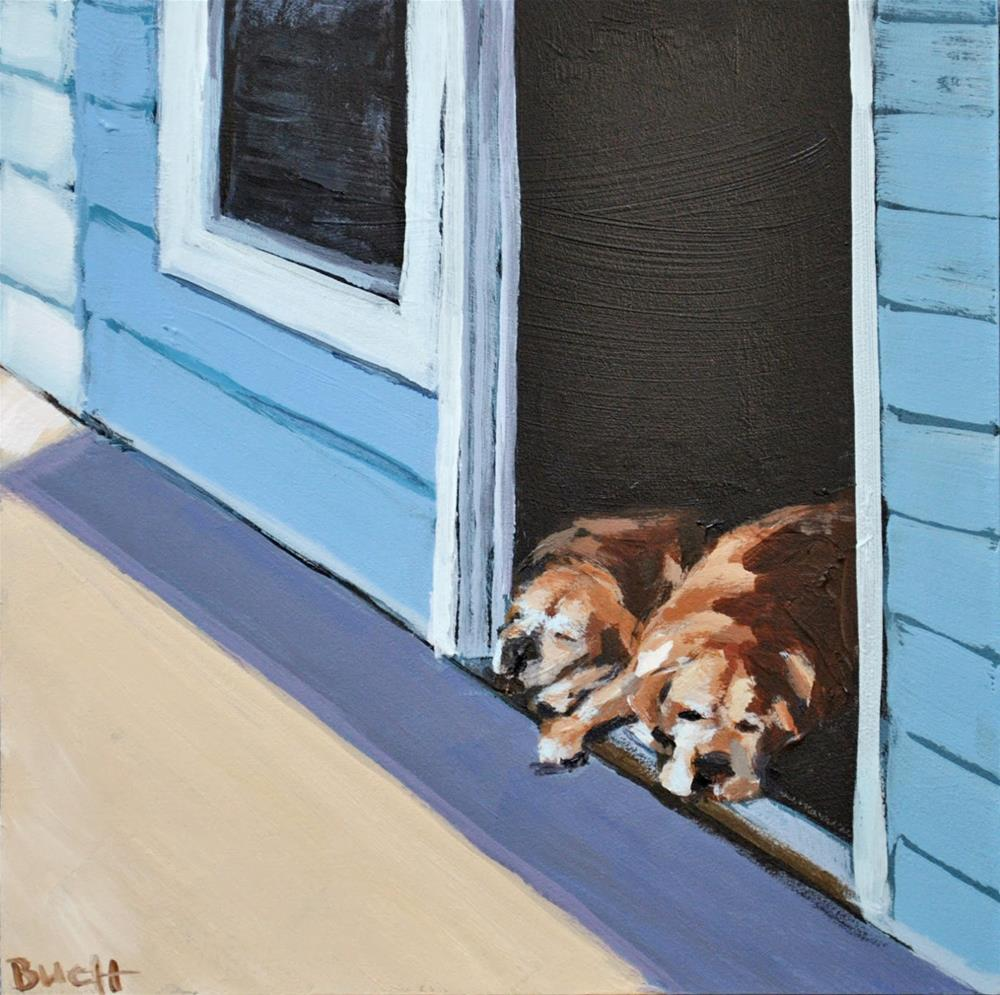 """""""Watch Dogs"""" original fine art by Shari Buelt"""