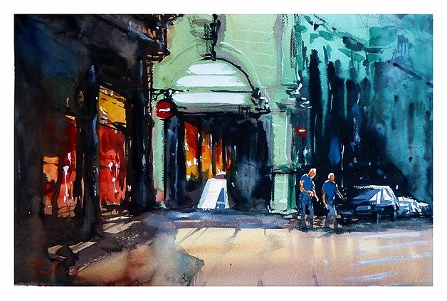 """""""Altstadt"""" original fine art by Jurij Frey"""